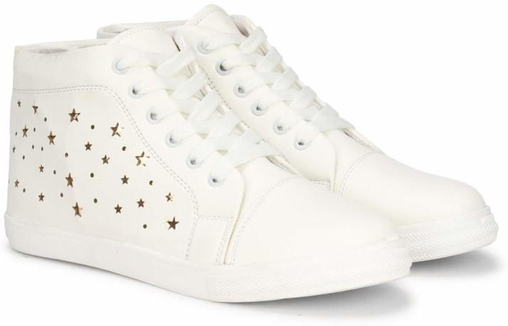 Shoe Island Feminae Stylish Fancy White