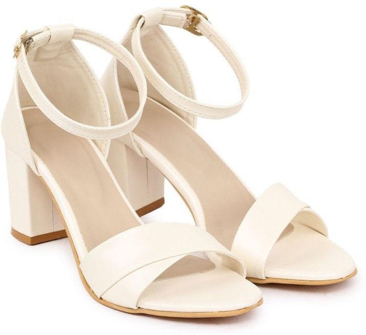 Shoe Swagg Women Off White Heels - Buy