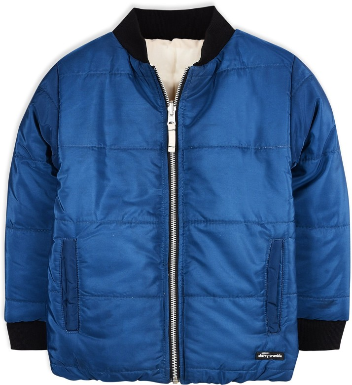 Cherry Crumble California Kids Boys Solid Polyester Regular Fit Winter Jacket Blue Red