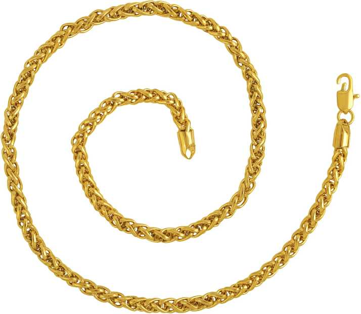 Missmister Gold Plated Brass Rope Design 20 Inch Long Necklace Chain Fashion Men Women Gold Plated Plated Brass Chain Price In India Buy Missmister Gold Plated Brass Rope Design 20 Inch Long