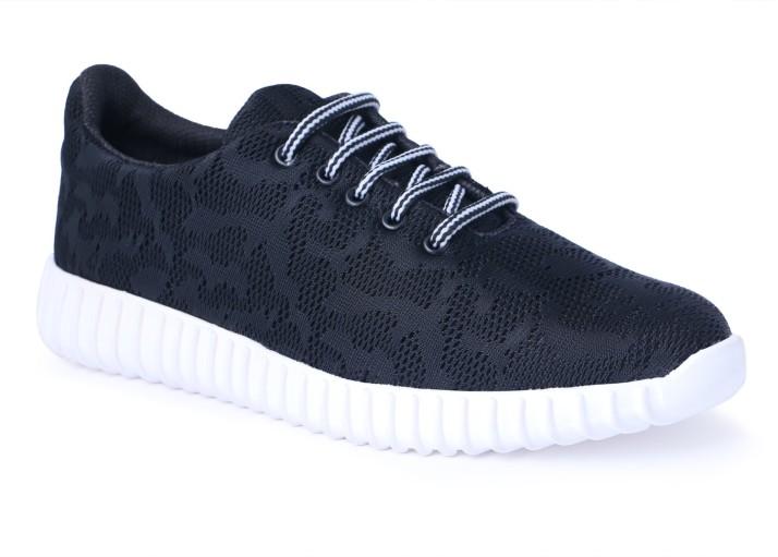 TTS Mens Black Casual Shoes Walking