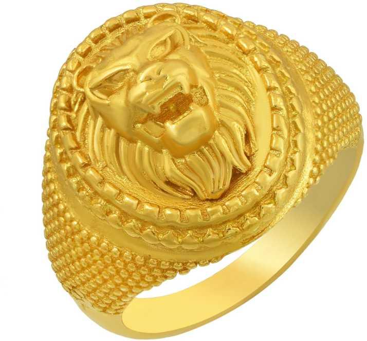 Rn 24kt Gold Plated Brass Lion Roar Head Design Superb Finish