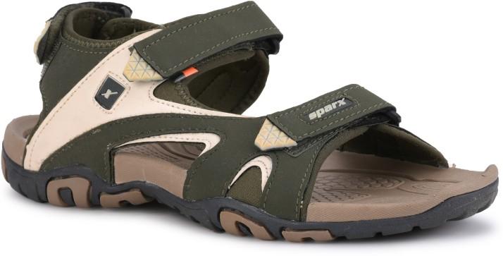Sparx SS-453 Men Olive Sandals - Buy