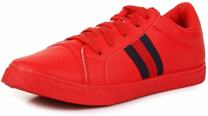 Feetwalk Casual red colour sneaker