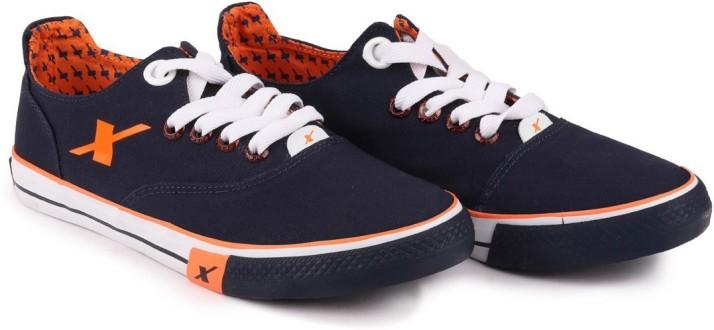 Sparx SM 192 N.BLUE ORANGE Canvas Shoes