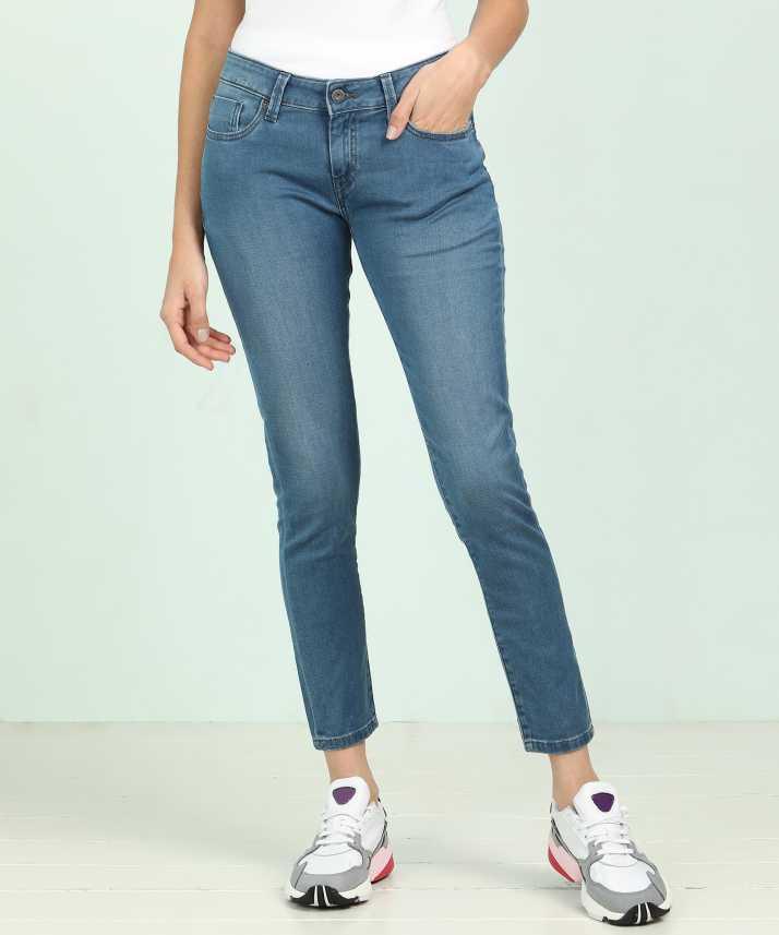 Pepe Jeans Super Skinny Women Blue Jeans Buy Pepe Jeans Super Skinny Women Blue Jeans Online At Best Prices In India Flipkart Com