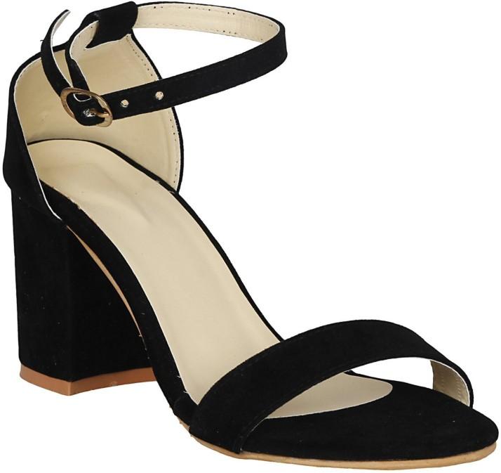 SHOFIEE Women Black Heels - Buy SHOFIEE