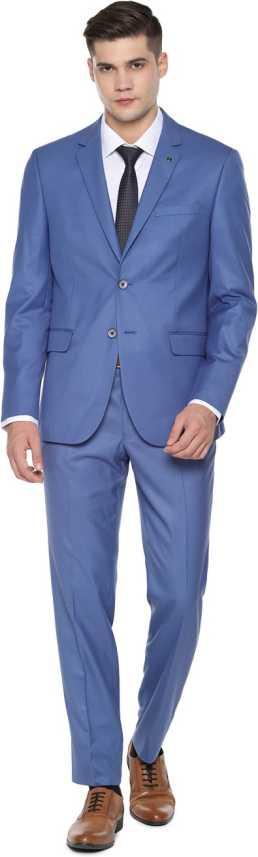 Van Heusen Van Heusen Blue Two Piece Suit 2 Piece Solid Men Suit Buy Van Heusen Van Heusen Blue Two Piece Suit 2 Piece Solid Men Suit Online At Best Prices