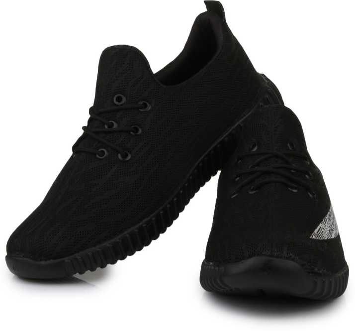 Black Shoes ZORI Casual Partywear Sneakers Shoes For Men's And Boys Black ...