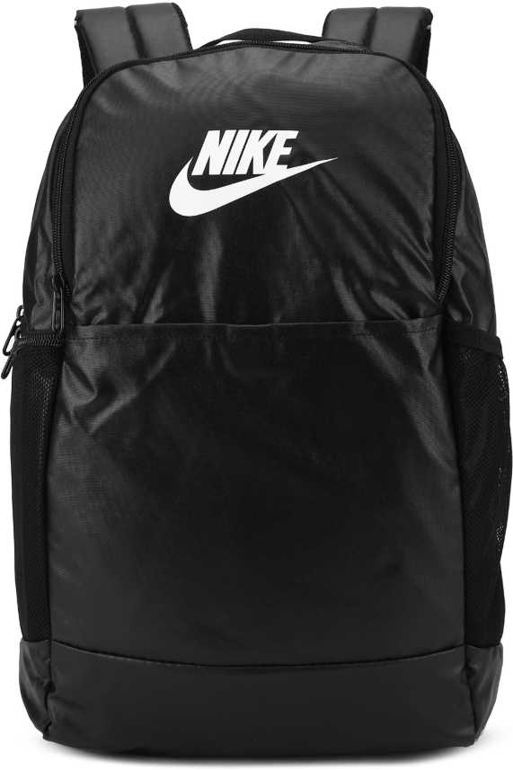 chupar Luna televisor  Nike Nk Brsla M Bkpk-9.0 Mtrl (24L) 20 L Backpack BLACK/BLACK/WHITE - Price  in India | Flipkart.com