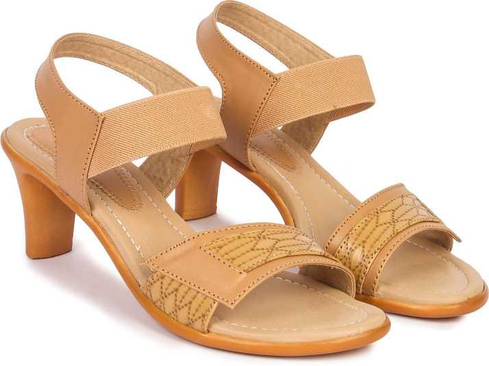 JIANSH GIRLS SANDALS PARTY WEAR Women Tan Heels - Buy JIANSH GIRLS SANDALS  PARTY WEAR Women Tan Heels Online at Best Price - Shop Online for Footwears  in India | Flipkart.com