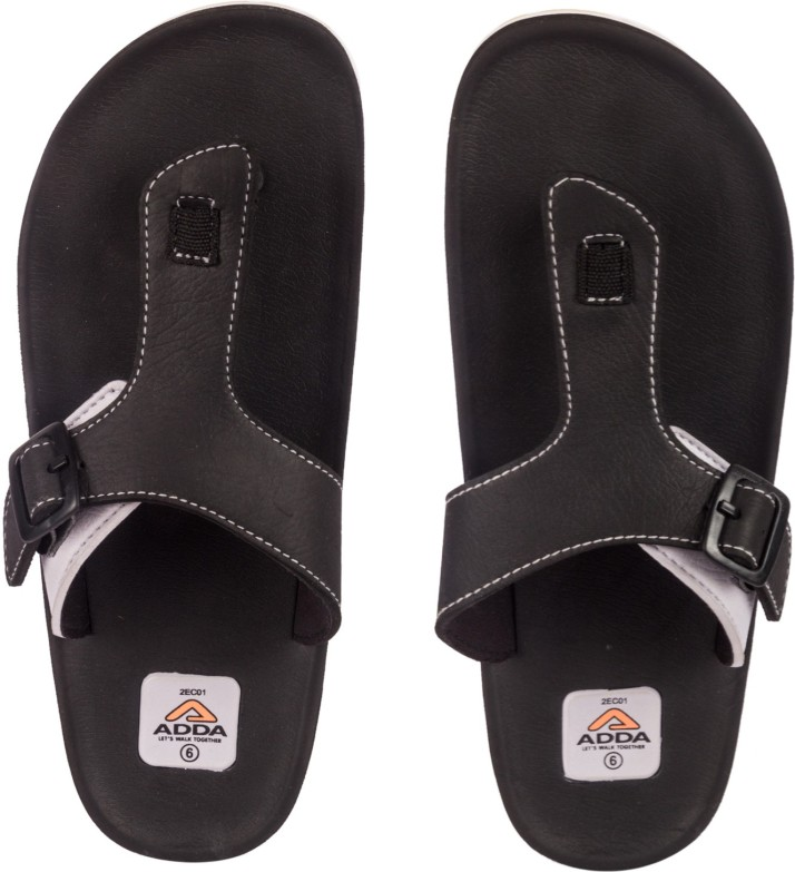 Adda Omega-01 Flip Flops - Buy Black