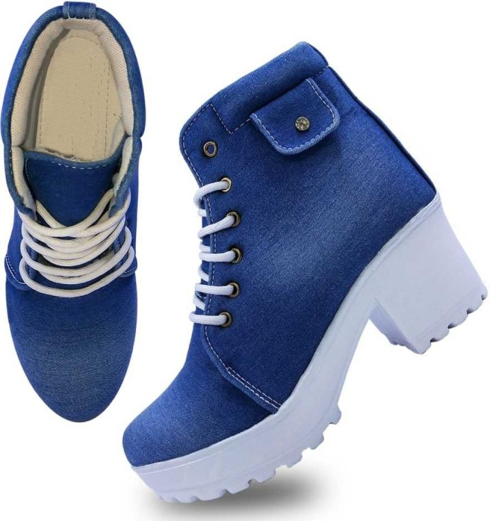 Buy comfert feet High Ankle Denim Boots