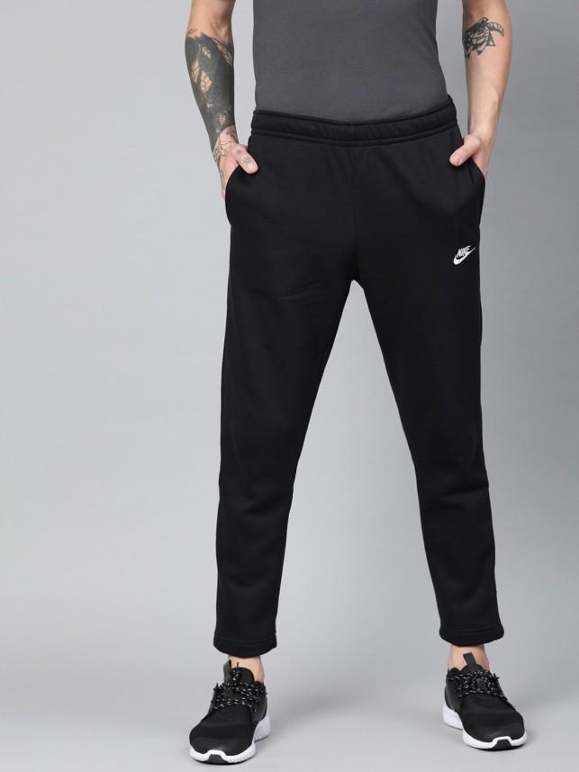 Nike Solid Men Black Track Pants - Buy