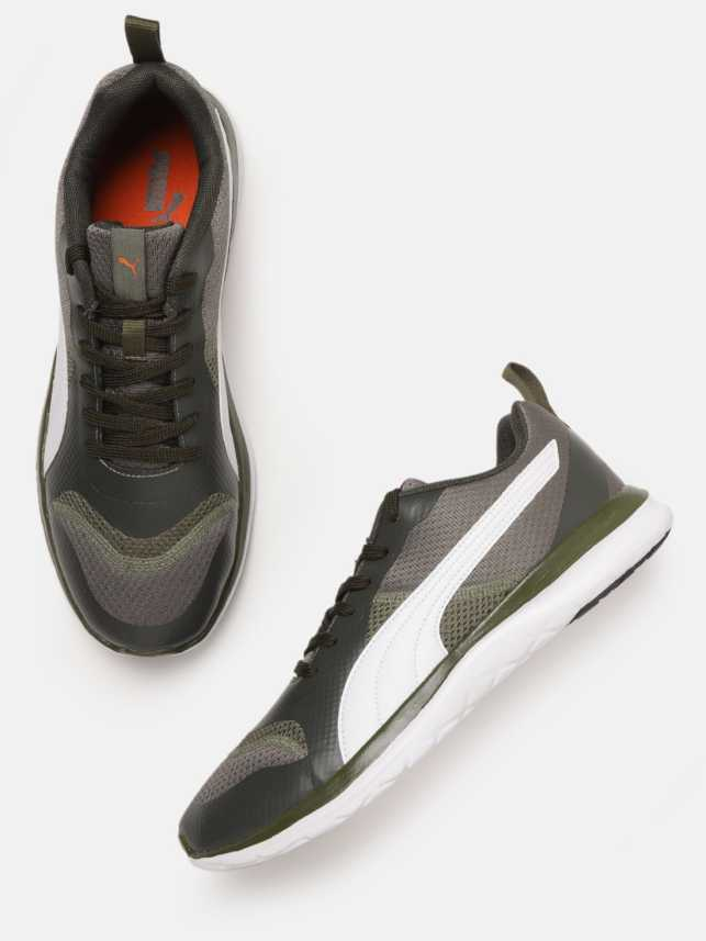recibir Maravilla Banquete  Puma Men Olive Green White Flex Free XT IDP Running Shoes Running Shoes For  Men - Buy Puma Men Olive Green White Flex Free XT IDP Running Shoes Running  Shoes For Men