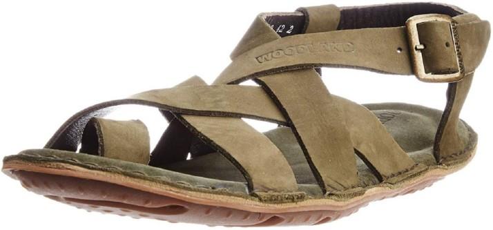 Woodland Men Tan Sandals - Buy Woodland