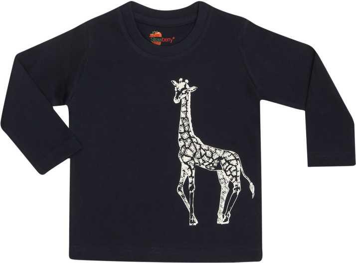 Baby Boys T-shirt Giraffe Navy Blue 18-24 Months