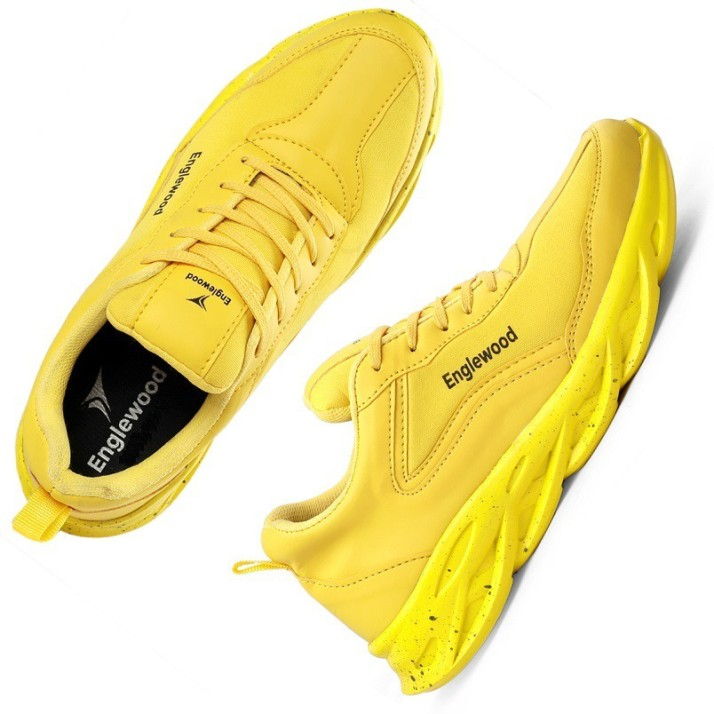 yellow lace-ups shoes Sneakers For Men