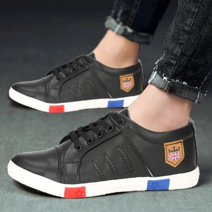 ZOVIM black shoes for men Sneakers For