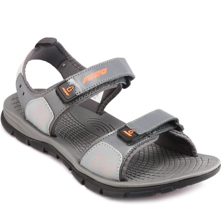 Furo Men Grey Sandals - Buy Furo Men