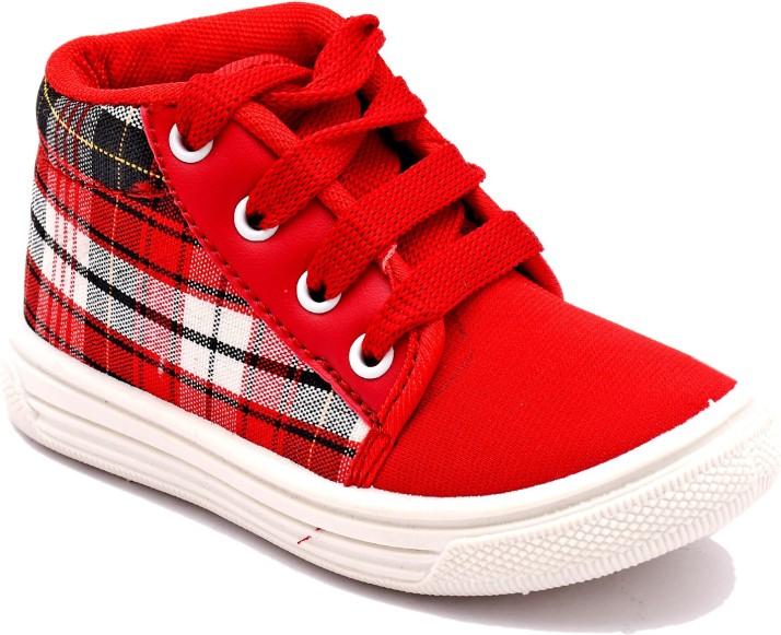 CUTECASE Boys \u0026 Girls Lace Sneakers