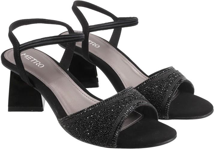 Metro Women Black Heels - Buy Metro