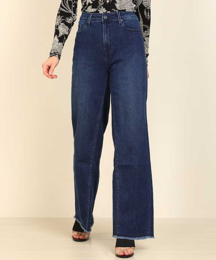 Pepe Jeans Flared Women Blue Jeans Buy Pepe Jeans Flared Women Blue Jeans Online At Best Prices In India Flipkart Com