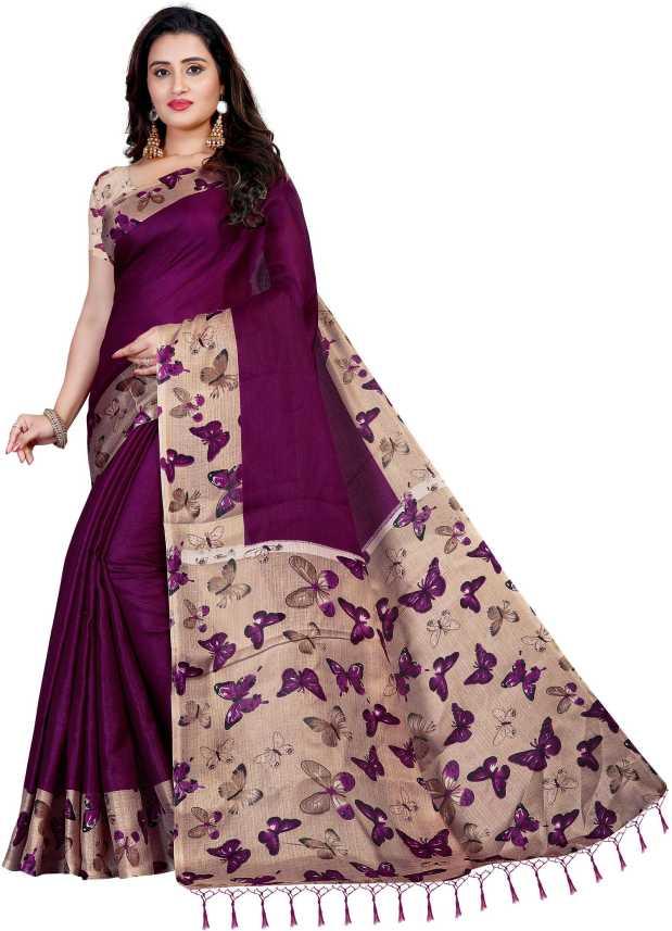 PIHU Details about  /Vimalnath Synthetics Printed KHADI SILK Saree -dCL