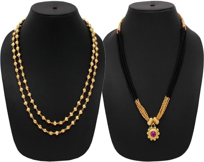 Womens Trendz Belpan Manchali 24K Gold Plated Alloy Mangalsutra