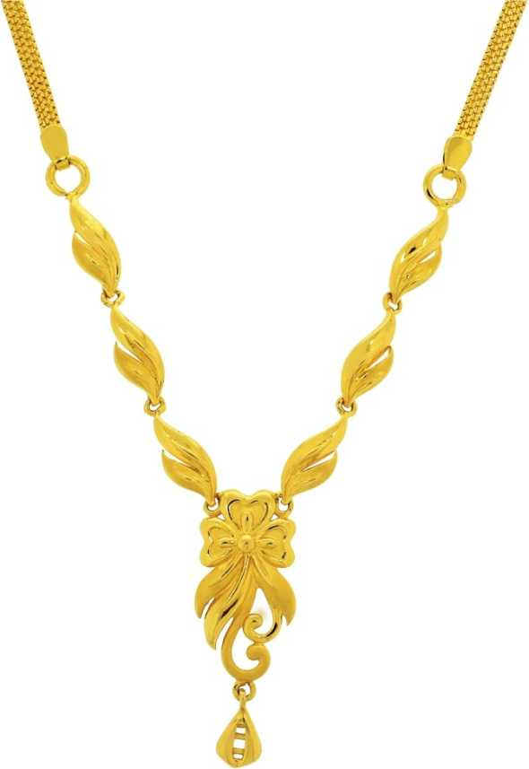Kalyan Jewellers Gold Necklace Price In India Buy Kalyan Jewellers Gold Necklace Online At Flipkart Com