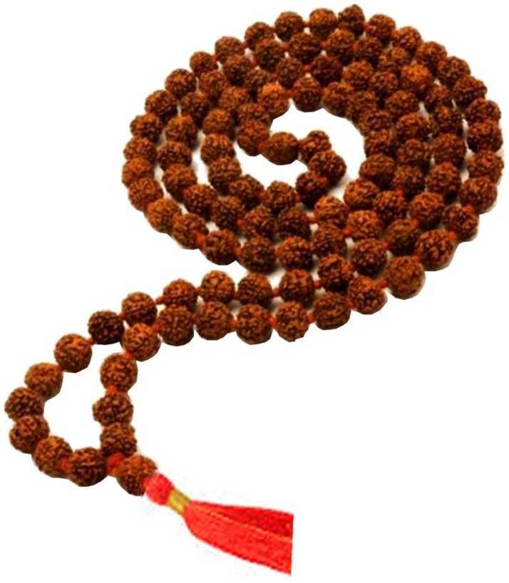 Men Style Rudraksha 5 face (5 mukhi) 108+1 beads mala of 6mm beads, Wood  Necklace