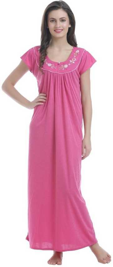 a562df0bf Miavii Women Nighty - Buy Pink Miavii Women Nighty Online at Best ...