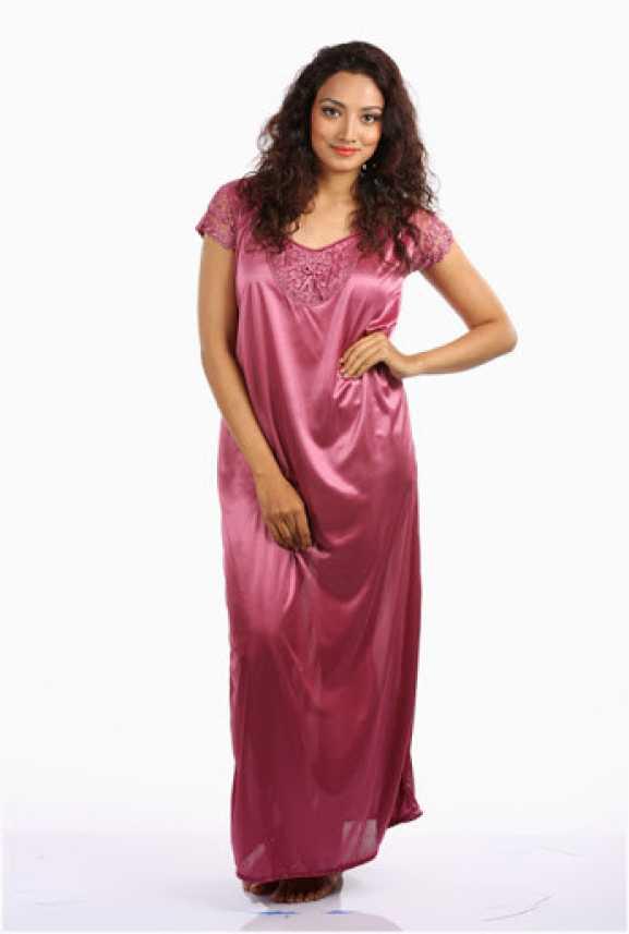 e7907a183d6 Klamotten Women Nighty - Buy Pink Klamotten Women Nighty Online at Best  Prices in India