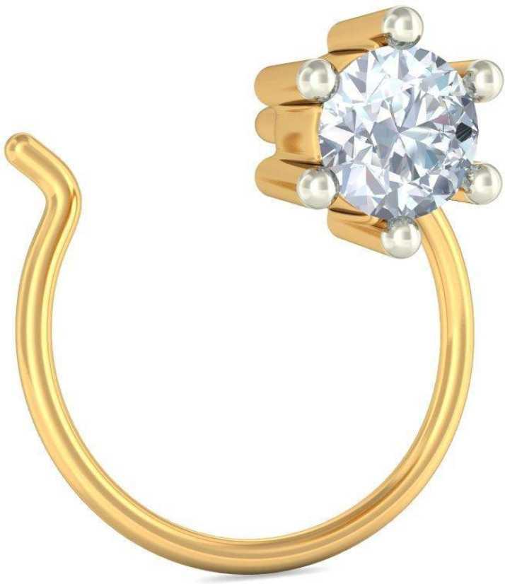 Bluestone The Ixia 18kt Diamond Yellow Gold Stud Price In India