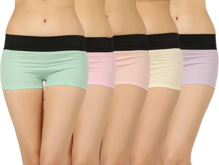 dda1144d0 Vaishma Women s Boy Short Multicolor Panty - Buy Pink