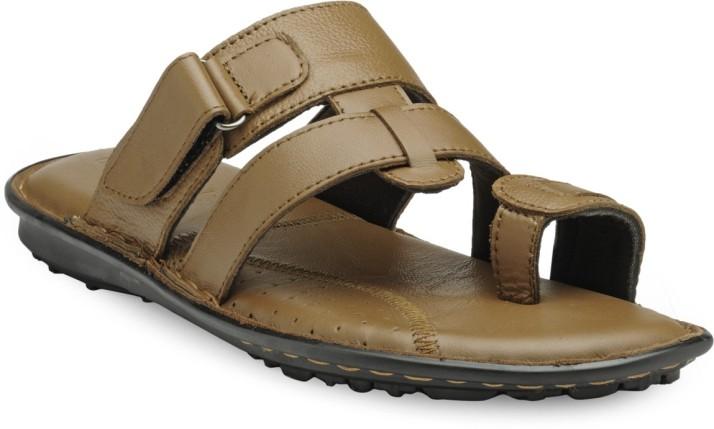 Teakwood Men Tan Sandals - Buy Teakwood