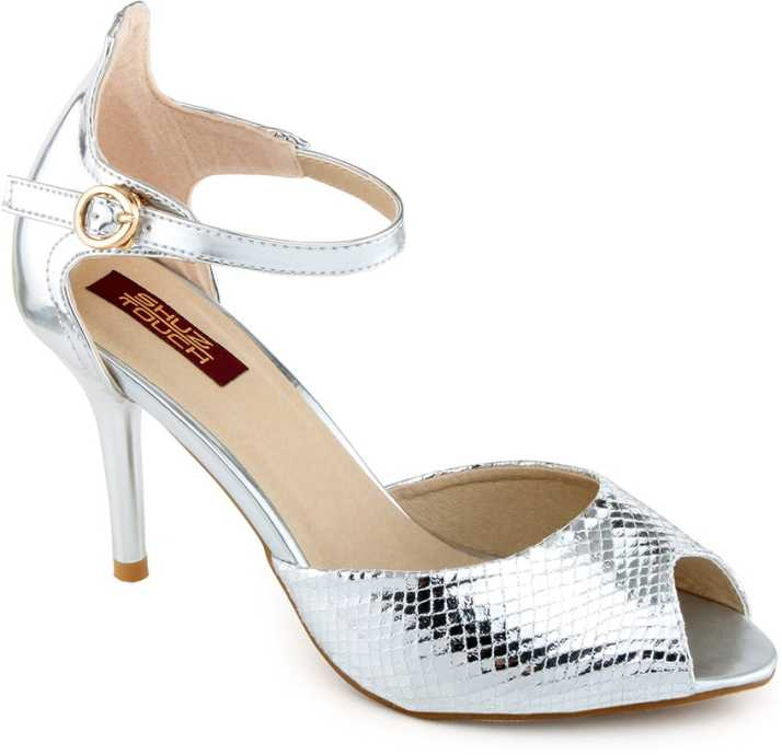 79cce7d6274 Shuz Touch Women Silver Heels - Buy Silver Color Shuz Touch Women Silver  Heels Online at Best Price - Shop Online for Footwears in India