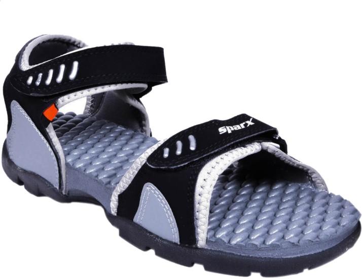 Sparx Men Black, Grey Sports Sandals