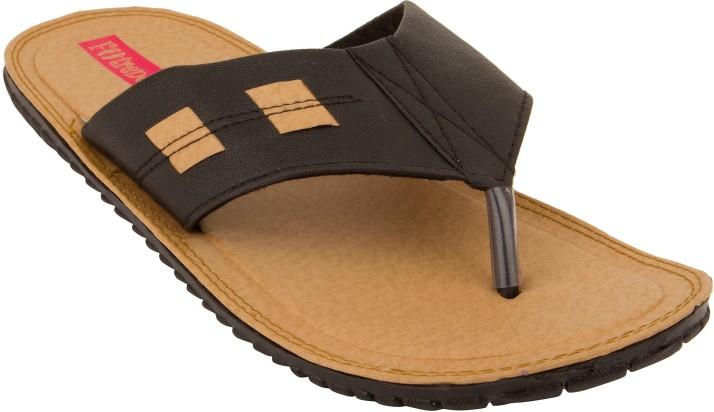 Footrendz Men Black Sandals - Buy Black