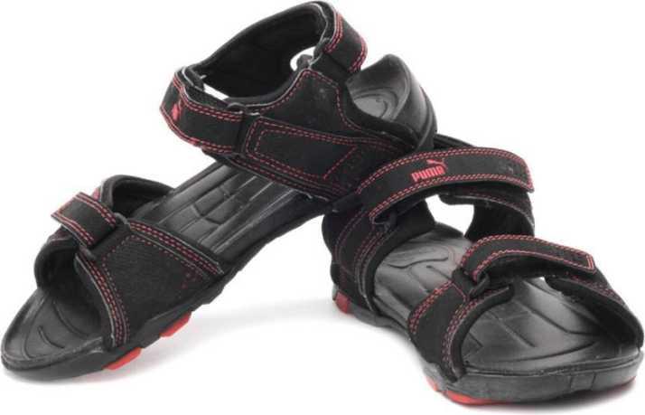 0b623d66898 Puma Men Puma Black-High Risk Red Sports Sandals - Buy Puma Black-High Risk  Red Color Puma Men Puma Black-High Risk Red Sports Sandals Online at Best  Price ...