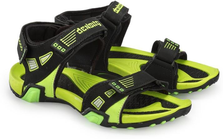 Density Men Black, Green Sandals - Buy