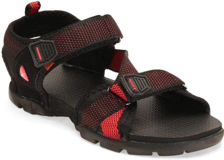 Sparx Men Red, Black Sports Sandals