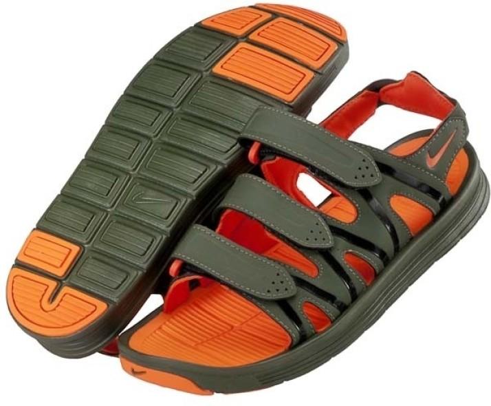 Nike Hyperfloat Men Khaki, Orange Flats