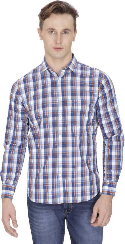 5f55ffb4db2 Sparky Men Checkered Casual Multicolor Shirt - Buy Blue Sparky Men  Checkered Casual Multicolor Shirt Online at Best Prices in India