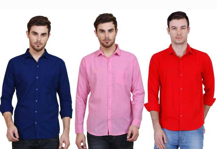 9de2daf3 BRULE Men's Solid Casual Multicolor Shirt - Buy BRULE Men's Solid ...