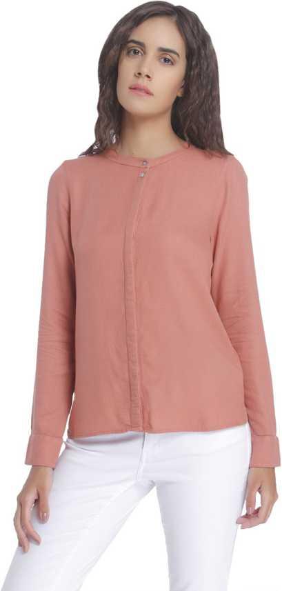 f8c5ca907ccaa2 Vero Moda Women's Solid Casual Pink Shirt - Buy Desert Sand Vero Moda  Women's Solid Casual Pink Shirt Online at Best Prices in India |  Flipkart.com
