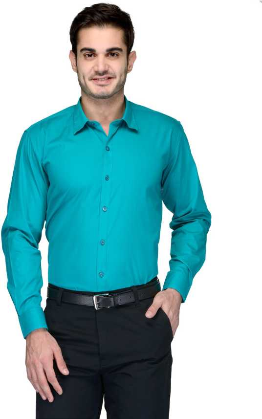 fba013d44060 FabTag - Being Fab Men s Solid Formal Green Shirt - Buy Mint Green ...