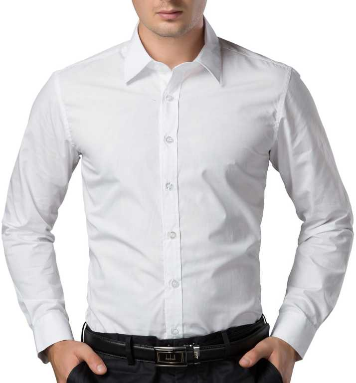 e01a1dccce FabTag - Being Fab Men's Solid Formal White Shirt - Buy White FabTag ...