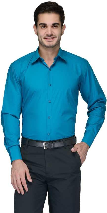 e2c944fcdb94 FabTag - Being Fab Men s Solid Formal Blue Shirt - Buy Turquoise FabTag - Being  Fab Men s Solid Formal Blue Shirt Online at Best Prices in India