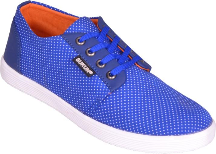 Sukun Canvas Shoes For Men - Buy Blue
